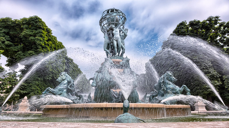 Fountain of the four continents in Paris
