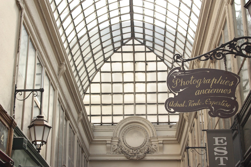 Large glass roof of the Verdeau passage