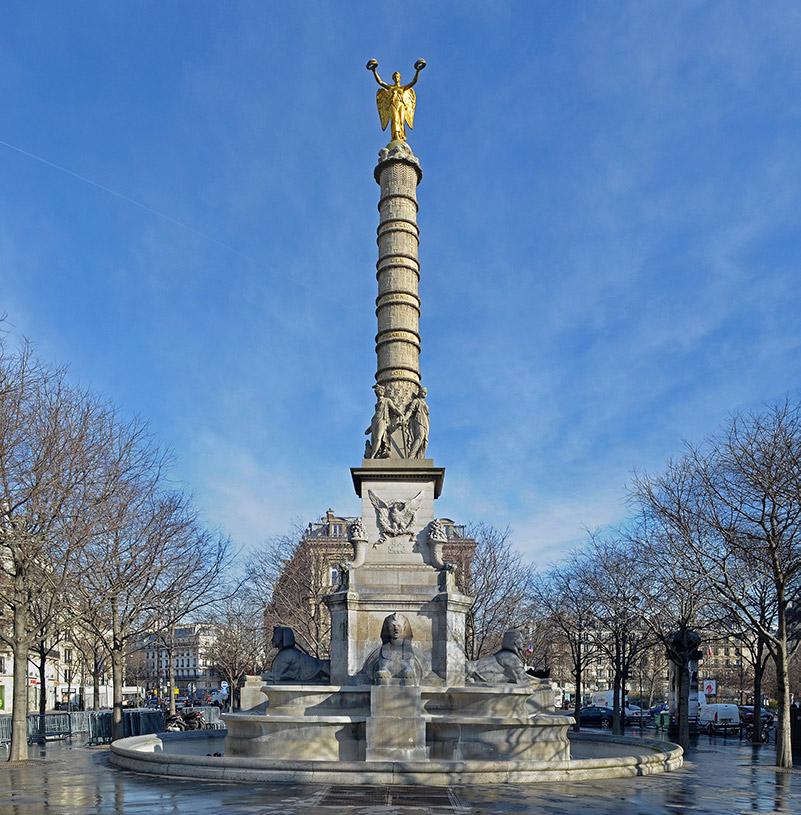 Fontaine du palmier, place du Châtelet